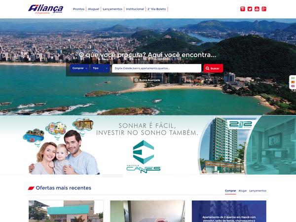 Novo Website da Aliança Imóveis