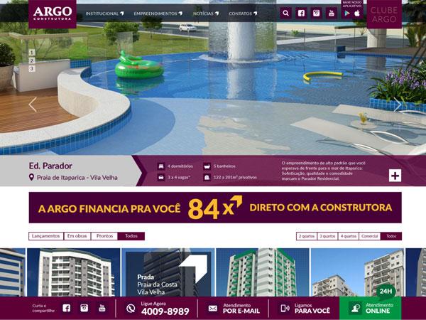 Novo website da Argo Construtora
